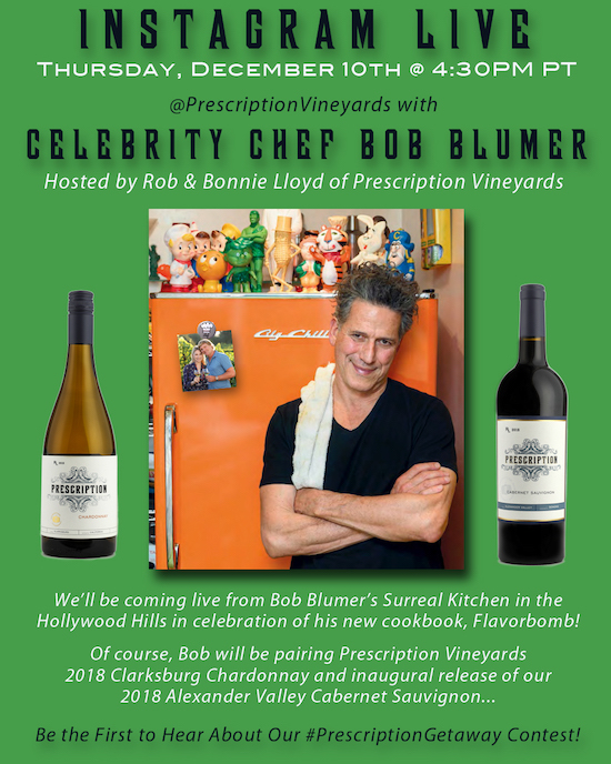 Instagram Live with Bob Blumer & Prescription Vineyards