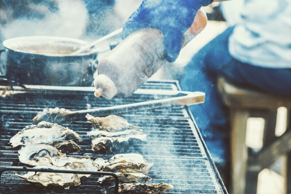 Bodega Bay Oyster Company Grilling Oysters